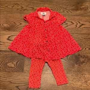 Valentine heart outfit sizes 12 - 24 months